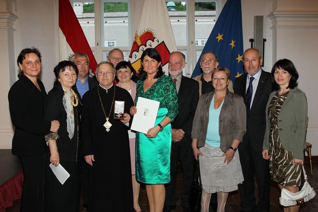 Ehrungsfestakt in der Salzburger Residenz, Verleihung durch Landeshauptfrau Gabi Burgstaller, 08.05.2012 Foto: LPB Franz Neumayr/SB Lk q98-110